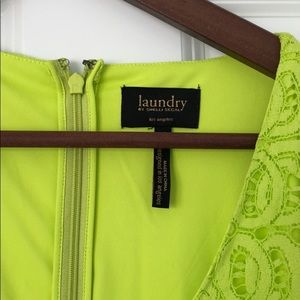 Laundry lime green dress